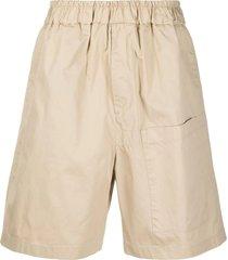jil sander beige cotton shorts
