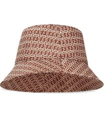 woven fabric effect bucket hat