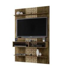 painel vega madeira rústica/madeira 3d móveis bechara marrom