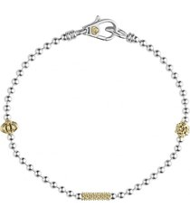 women's lagos caviar icon single strand bracelet