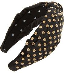 lele sadoughi crystal embellished headband
