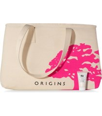 receive a free tote and treat with any $45 origins purchase