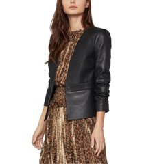 bcbgmaxazria cropped faux-leather jacket