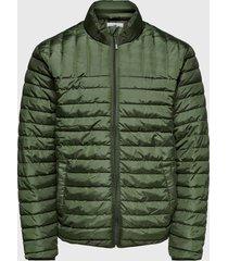 parka only & sons onspaul quilted highneck jacket otw verde - calce regular