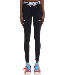 off-white active leggings in black polyamide