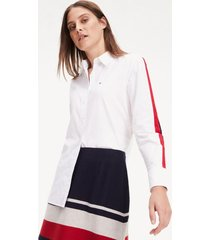 blusa regular amber bicolor tommy hilfiger