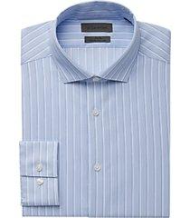 calvin klein infinite blue stripe slim fit dress shirt