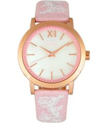 bertha quartz penelope collection light pink and white leather watch 36mm