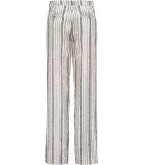 feminine fit-broek model farina 100% linnen van brax feel good beige