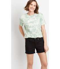 silver jeans co.® womens black boyfriend frayed hem 3.5in shorts - maurices