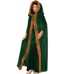 buyseasons women's faux fur trimmed cape