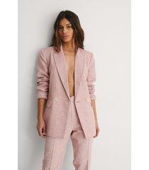 na-kd classic blazer med struktur - pink