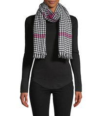 houndstooth fringe scarf