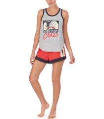 disney cruella tank top & shorts pajama set