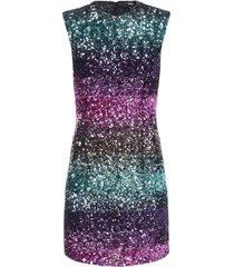amen gradient sequins mini dress