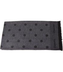 churchs grey wool all over polka dots scarf