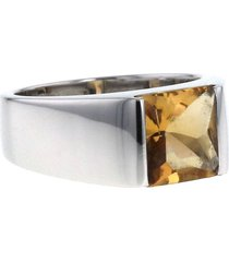 cartier 2000s pre-owned 18kt white gold tank medium ring -