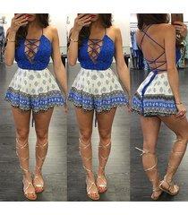 women summer sexy party open back bow backless o-neck bandage sleeveless dress