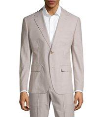 bonobos men's foundation slim-fit chambray jacket - sand chambray - size 36 r