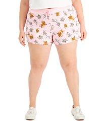 freeze 24-7 trendy plus size tom & jerry dolphin-hem shorts