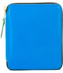 comme des garçons wallet all-around zip wallet - blue