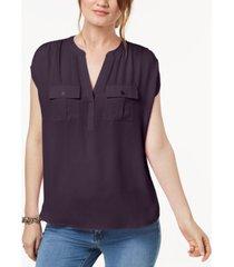 inc split neck utility shirt, created for macy's
