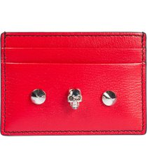 alexander mcqueen skull embellished card holder