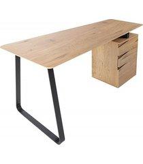 biurko konsola studio fornir dębowy 160cm