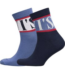 levis short sock sport stripe 2p underwear socks regular socks blå levi´s