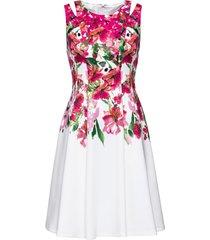 abito con cut-out (bianco) - bodyflirt boutique