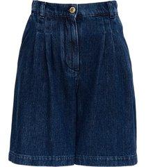 alberta ferretti blue denim shorts