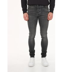 amiri slim jeans in gray denim