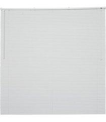 persiana horizontal em pvc off 130x120cm branca