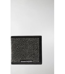 alexander mcqueen stud-embellished logo-print wallet