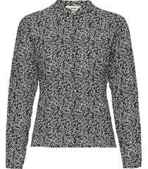 bumpy flower bossa blouse lange mouwen zwart mads nørgaard