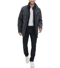 kenneth cole new york men's melange textured utility jacket