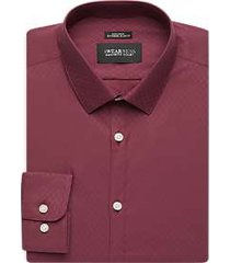 awearness kenneth cole burgundy diamond extreme slim fit dress shirt