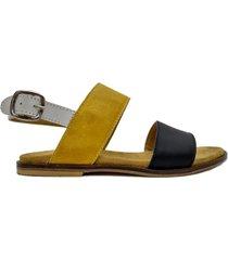 sandalia mostaza abryl calzados