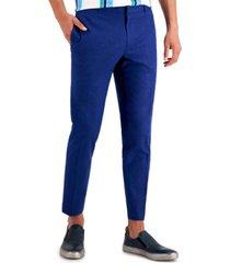 inc men's slim-fit linen blend suit pants, created for macy's