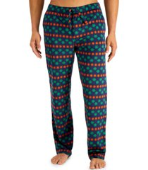 club room men's holiday fleece pajama pants, created for macy's