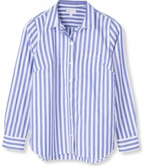 blusa rayas mujer azul gap