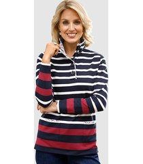 sweatshirt paola marine::ecru::rood