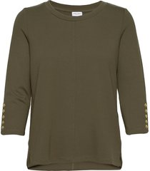 t-shirt 3/4-sleeve r t-shirts & tops long-sleeved groen gerry weber