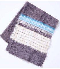 lou & grey fairisle fuzzed scarf