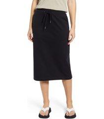 women's nordstrom slim french terry midi skirt, size x-small - black