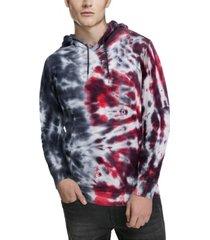 men's half and half tie dye pullover hoodie