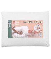 travesseiro duoflex natural látex 50x70 16cm bege