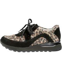 skor för breda fötter waldläufer svart