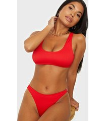 missguided rib scoop neck bikini top top