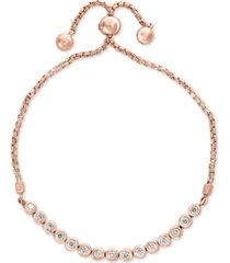 bubbles by effy diamond bezel bolo bracelet (5/8 ct. t.w.) in 14k rose gold